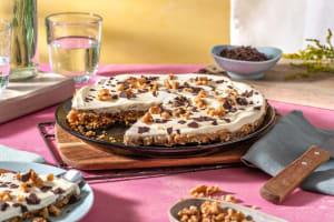 Banaan-slagroomtaart met speculaas- en stroopwafelbodem image