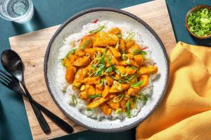 Kürbis-Poulet-Curry mit Chilireis image