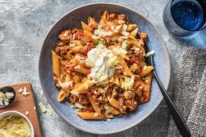 Snelle pasta met gehakt in Mexicaans jasje image