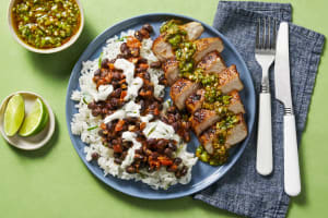 Pork Chops with Zesty Green Onion Salsa image