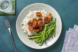 Bouchées aux légumes et sauce asiatique image