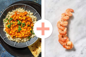 Indiase curry met garnalen als extra image