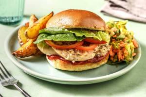 Hähnchenburger mit italienischem Hartkäse image