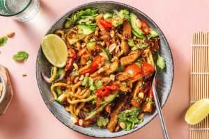 Aziatische fusionsalade met vegetarische runderpuntjes image