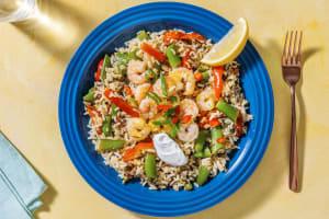 Spanischer Reis mit Chorizo und Garnelen image