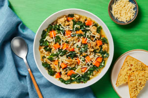 Chicken Sausage, Couscous & Kale Soup image