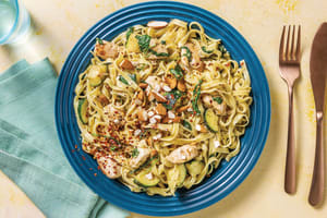 Chicken Alfredo & Fresh Fettuccine with Roasted Almonds image