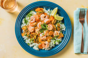 Rotes Thai-Curry mit Garnelen image