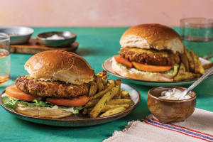 Cheesy American Pork Burger image