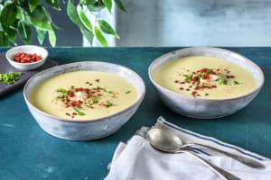 Paprika-Mais-Suppe mit Chorizo image