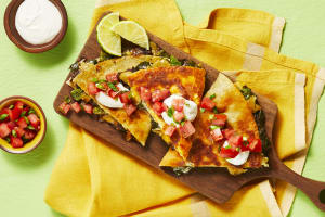 Black Bean & Poblano Quesadillas image