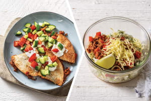 Cheesy Beef Quesadillas & Salsa for Dinner image