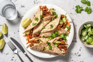 Wraps met vegetarische runderstukjes en rauwkost image