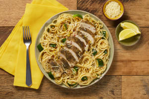 Italian Chicken over Lemony Spaghetti image