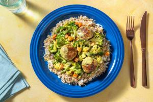 Milde groentecurry met gehaktballen image