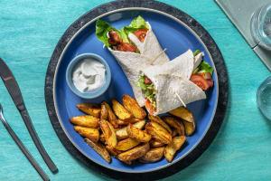 Hähnchen-Wrap mit karamellisiertem Bacon image