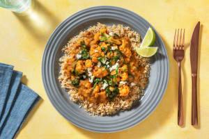 Rode curry met bloemkool en feta image