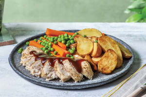 Roast Chicken with Roasted Chat Potato image