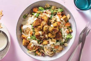 Spinach Falafel & Pumpkin Couscous image