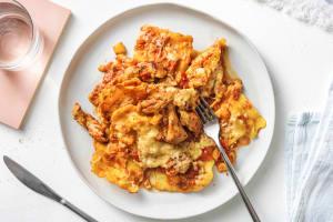 Raviolis au four au fenouil et émincé de poulet image