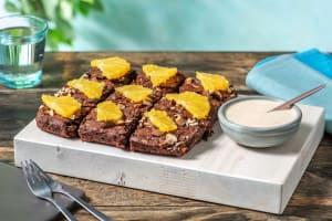 Schoko-Bohnen-Brownie mit Orangen-Creme image