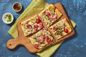 Roasted Garlic & Zucchini Flatbreads image