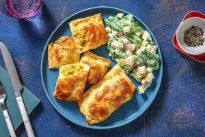 Bladerdeegpakketjes met vegetarische kipkerrie image