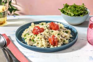 Risotto à la truffe, légumes et parmesan image