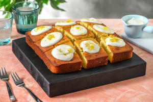 Cake au yaourt et au citron à la menthe fraîche image