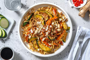 Nouilles au poulet haché et sauce asiatique image