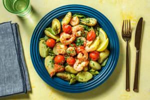 Crevettes à l'ail et tomates cerises poêlées image