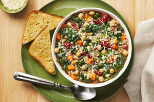 Tuscan Chickpea, Kale & Tomato Soup image