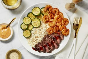 Hibachi Sweet Soy Bavette Steak & Shrimp image