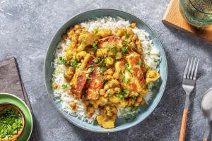 Indiase curry met bloemkool en paneer image