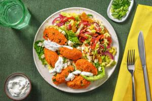 Veggie Cig Köfte und Antipasti-Paprika-Salat image