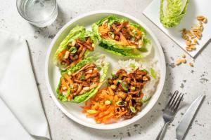 Tacos de little gem aux champignons laqués image