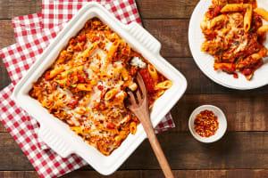 Zucchini Pomodoro Penne Bake image