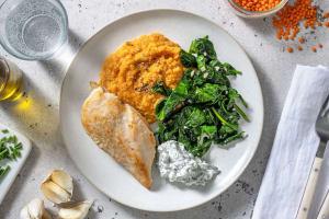 Filet de poulet et purée de carotte au paprika fumé image