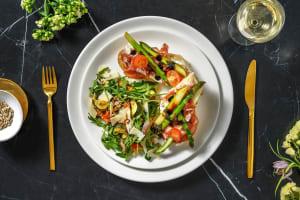 Bruschetta asperges vertes, coppa & mozzarella image