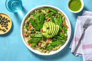 Couscous vert au thon et pois mange-tout image