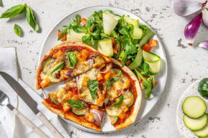 Flammkuchen met mozzarella en courgette image