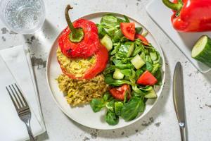 Gevulde paprika's met orzo en italiaanse kaas image