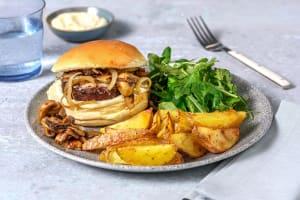 Vegetarische hamburger met truffelmayonaise image