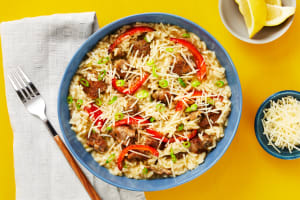 Pork Sausage & Bell Pepper Risotto image