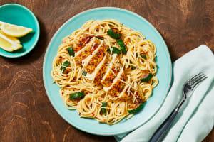 Italian Chicken over Lemony Spaghetti image