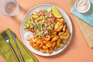 Thousand Island Salad mit Knoblauch-Garnelen image