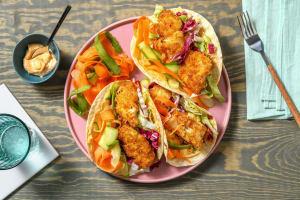 Mini-tortilla's met krokante vis image