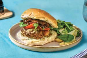 Quick Italian Cheesy Beef Burgers image