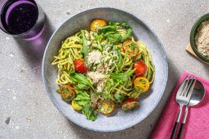 Pasta Verde mit würzigen Hefe-Cashew-Flakes image