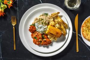Butter chicken met rijst en zelfgemaakte raita image